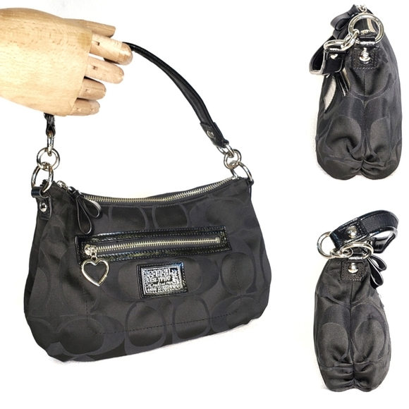 Coach Handbags - Coach Shoulder Poppy Bag Purse Fabric Patent